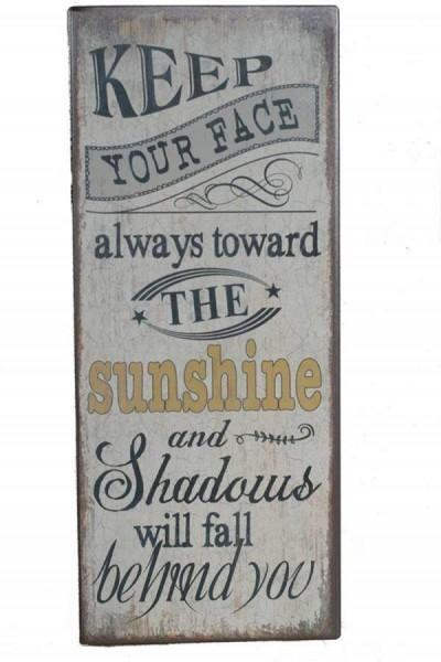 Blechschild Sunshine