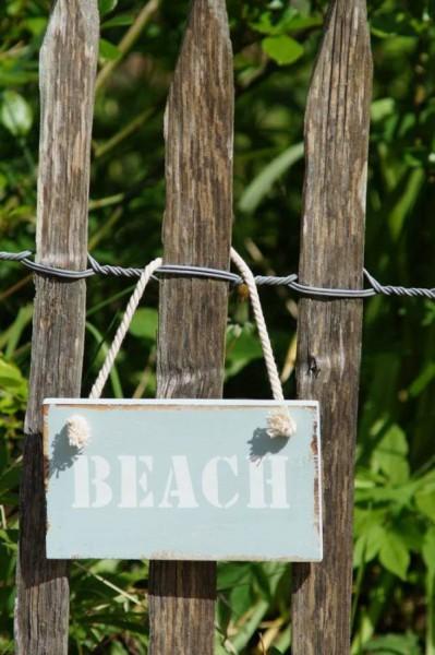 dekoschild beach aus holz