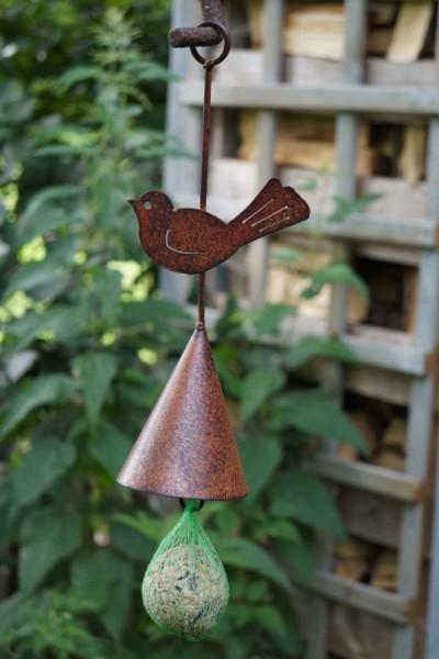 vogelfutterhalter vogel rostoptik