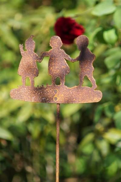 Gartenstecker Edelrost Ringelrein